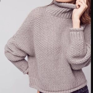 Anthropologie Moth chunky grey sweater